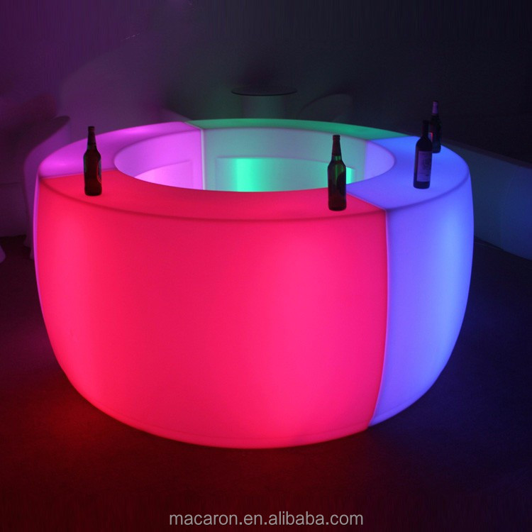 led light <strong>bar</strong> nightclub furniture portable mobile <strong>bar</strong> counter Party glowing table glow furniture