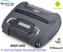 Thermal small Woosim 4 inch portable printer WSP-I450 with Android SDK,MSR ,best price
