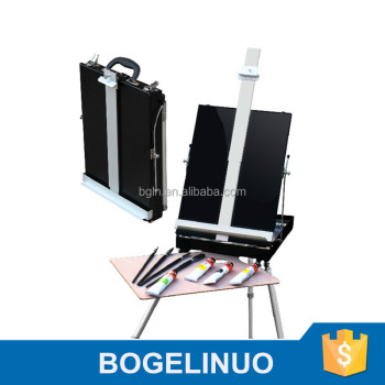 in stock 85*90*140(170)cm professional portable metal easel box