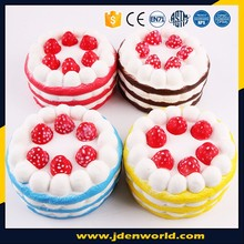 Super soft japan jumbo squishy food toy colorful cake release stress ball