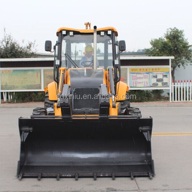cheap price mini backhoe loader small backhoe loader XN880 with CE certificate 80000kg and breaker for rocks