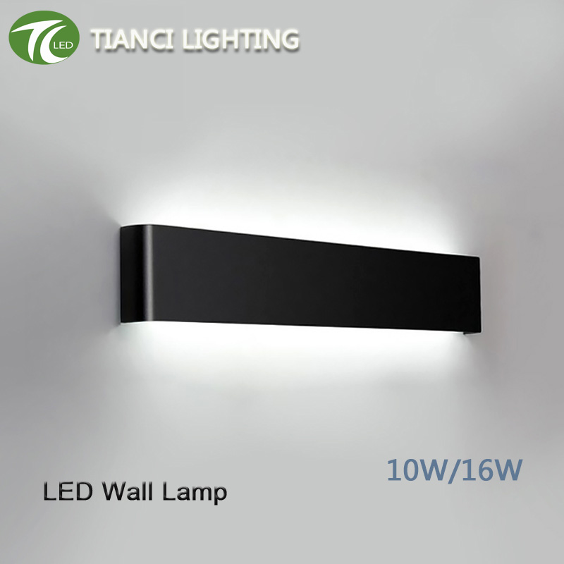 Aluminum Black Silver Home Hotel Wireless Modern Led Wall Lamp