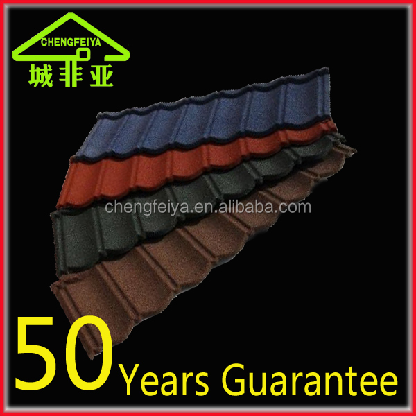 Color roof tile price/Stone chip steel roof tile