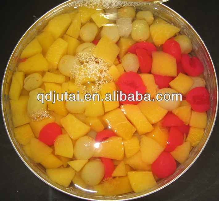 low price canned fruit cocktail in tin/canned assorted fruit hot sale