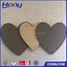 Natural Unfinished Wall Decor Plywood Cutout Shape for Door Wooden Hearts Keychain