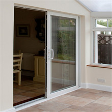 Perfect sunlight big size stainless steel mosquito nettting villa and balcony sliding upvc glass window door suppliers