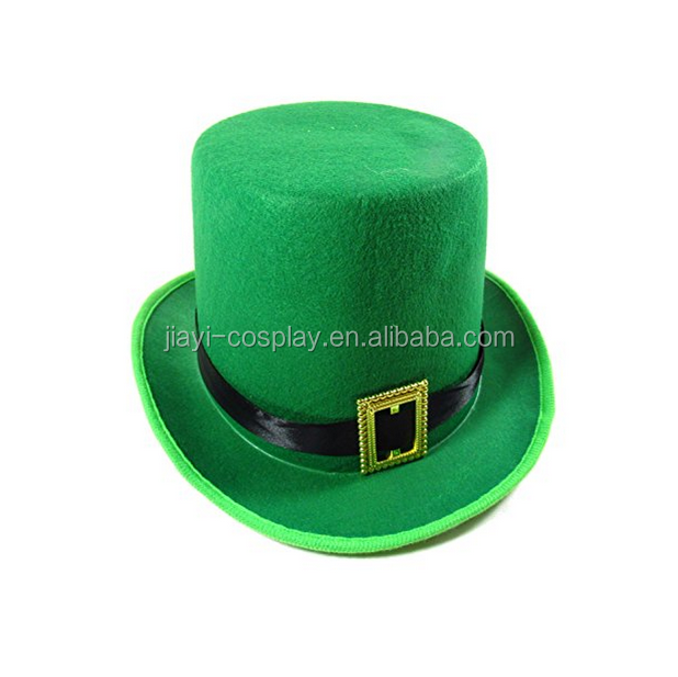 Saint Patrick Day hot sales cheap green top hat wholesale
