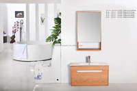 Newest fashional yellow ashtree MDF bathroom wall cabinet
