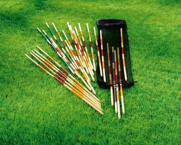 painted outdoor giant mikado for kids, pick up sticks, sporting goods