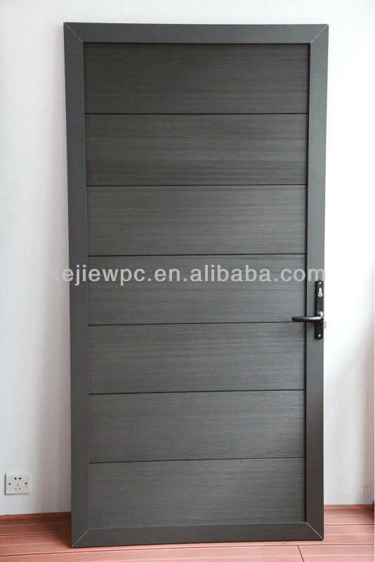 Anti-UV Wood Plastic Composite Panel Wood Gate WPC Door