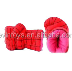 customized top sale cartoon character plush cosplay gloves