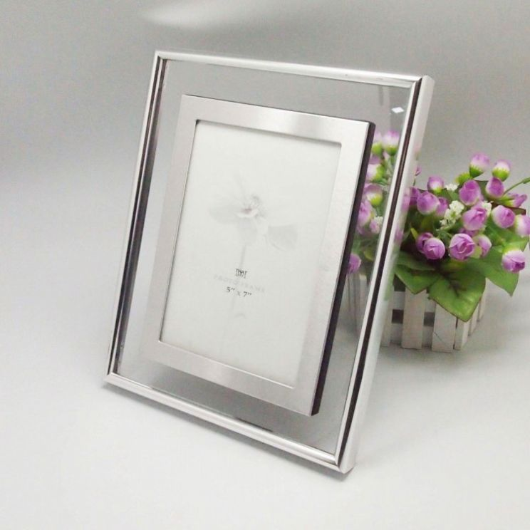 Fashion 12X12 Wood Metal Mirror Frame