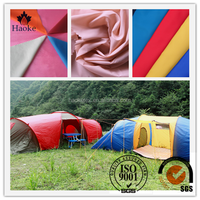 PU coated waterproof made in suzhou 190t polyester taffeta tent fabric