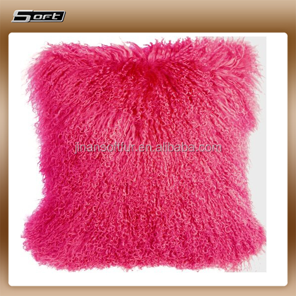 Essential Home Mongolian Faux Fur Square Decorative Pillow