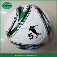 PVC material machine stitched football soccer ball