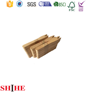 100% Natural Birch Material Disposable Wooden Chip Fruit Fork