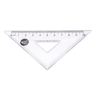 Good Quality School Stationery Professional Clear 45 Degree Triangle Ruler