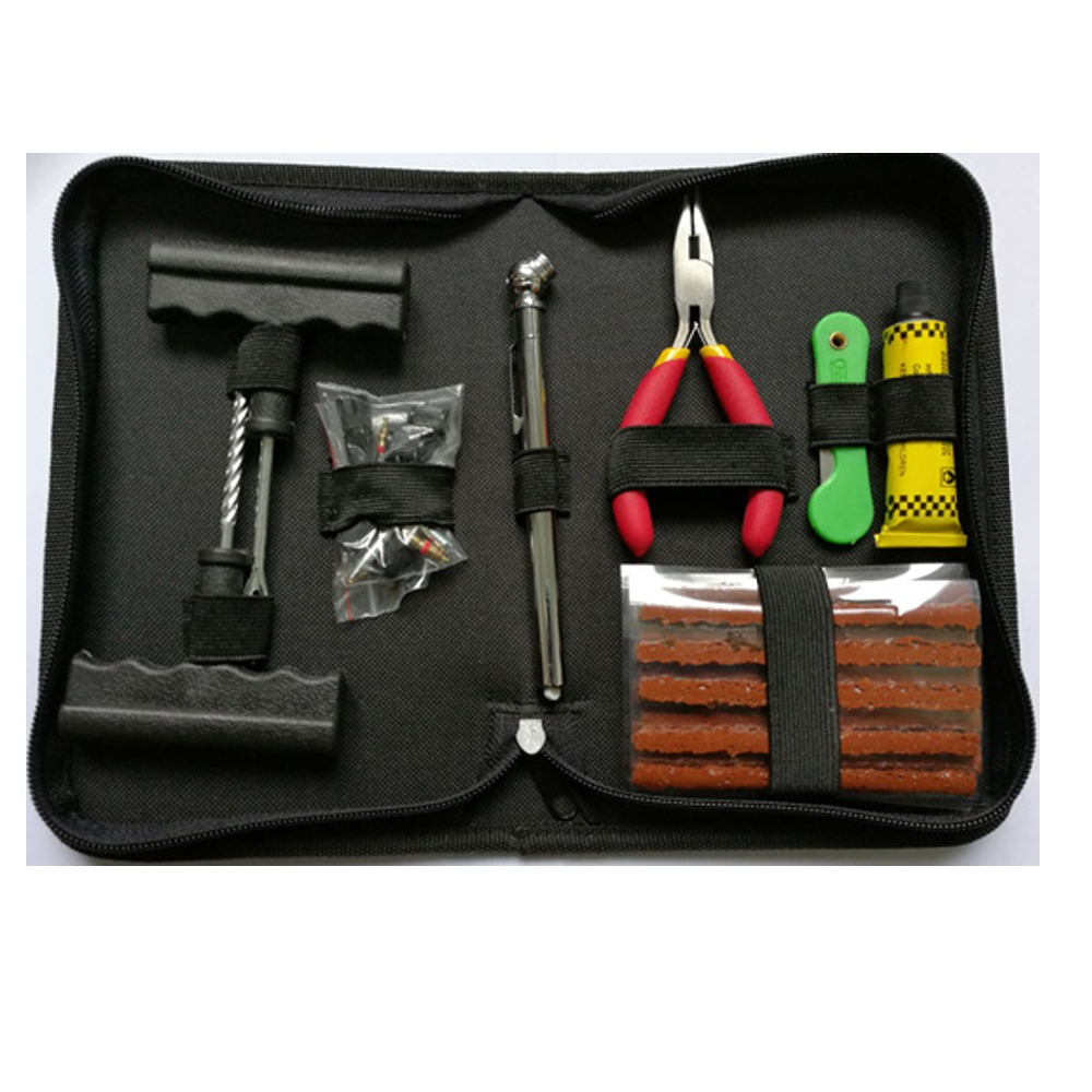 Tire Repair Tool <strong>Kit</strong> With Black Canvas Bag