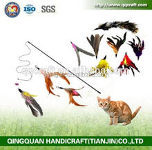 2016 Wholesale New Design Telescoping Fishing Rod Spin Feather Cat Teaser Wand