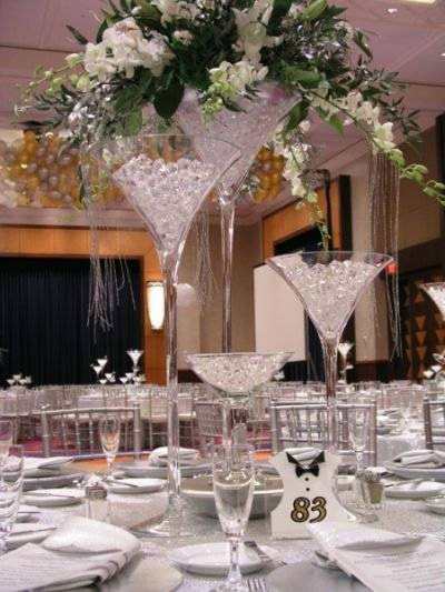 Decoration Large Cheap Clear Martini Glass Vases For Wedding View