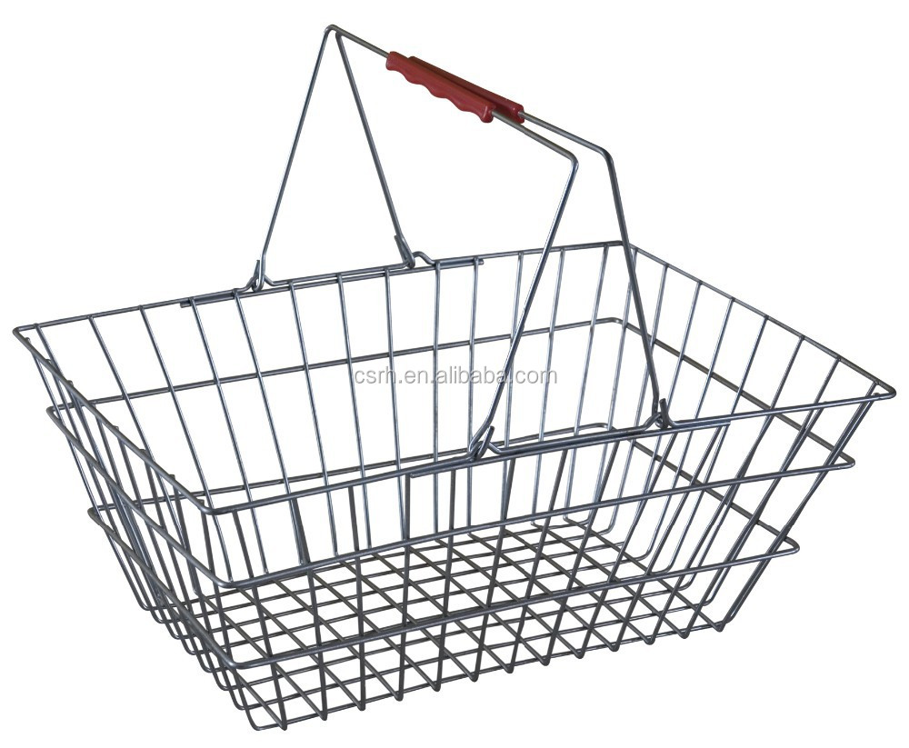 RH-BMH28 Supermarket Chromed Wire Shopping Basket