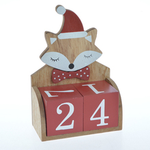 Christmas decorative deer santa snowman advent calendar gift box with wooden tree stand