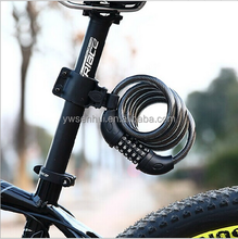 12*1200MM 5-digit combination Resettable Bicycle Cable Bike Lock
