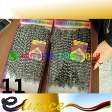 cheap curl hair extension crochet bulk hair weaving High Temperature Fiber Long Jerry Curly Synthetic Sexy hair extension