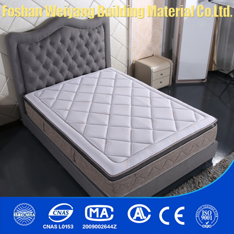 WSS301 Hot selling Modern furniture hotel bed and pocket/box coil spring mattress