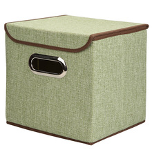 cubes with the metallic handle Foldable Non-woven Storage Cube Baskets