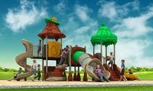 Funny plastic kids outdoor playground with factory price