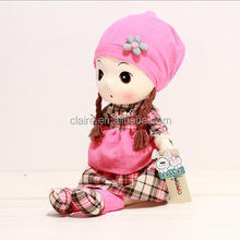 Soft Chinese Style Girl Dress Doll Push Stuffed High Quality Orient Doll with Cloth Shoes