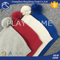 New design warmth top pom ear flap kid winter hats
