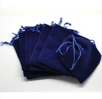 High end Custom lady jewelry packaging velvet bag With String