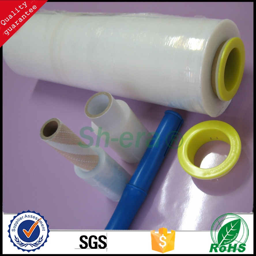 2016 hot sale hand wrap stretch PE film for sealing with highly elastic by alibaba golden supplier.