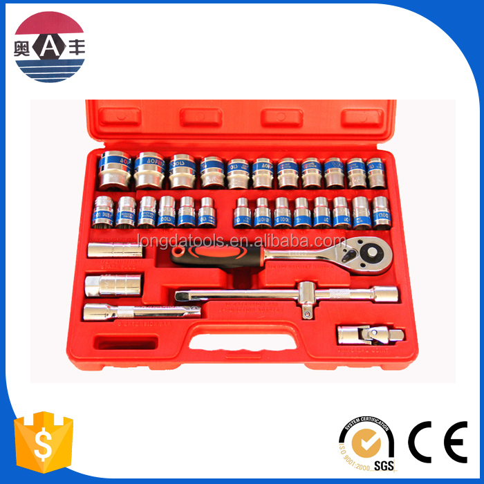 32 Pcs big Socket set hand tool kit repair tools