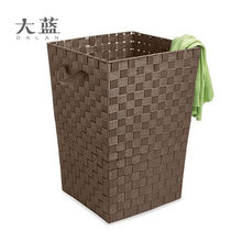 New design plastic nylon weave storage basket with iron frame