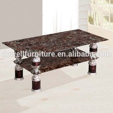 Knock down glass coffee table tea table glass outside table for sale