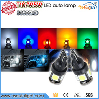 High Quality T10 5SMD 5050 Canbus Bulbs Warning Canceller 12V Auto LED Bulb Error Free