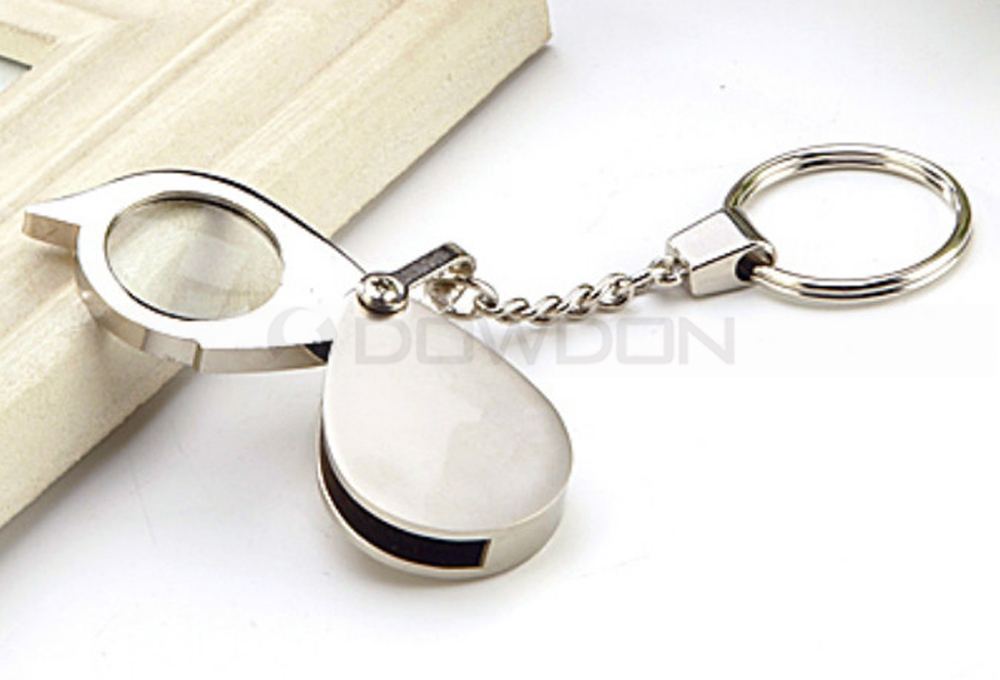 Foldable Keychain Magnifier 8X Loupe for Reading