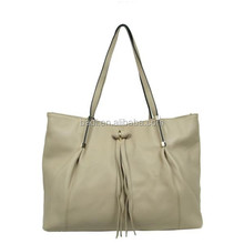 Fringe tassel bag top line new hand bag women 2014 soft leather bags from guangzhou badi direct factory