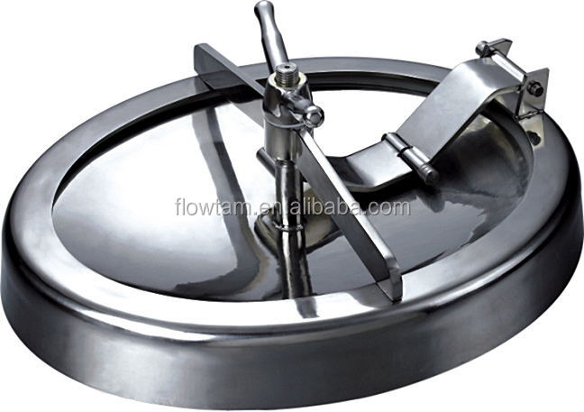 sanitary stainless steel pressure elliptical/circular manhole cover/manway