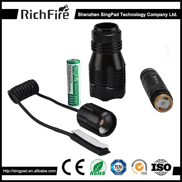 High brightness hunting green light LED flashlight