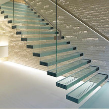 Competitive price Tempered Glass Floating Stairs