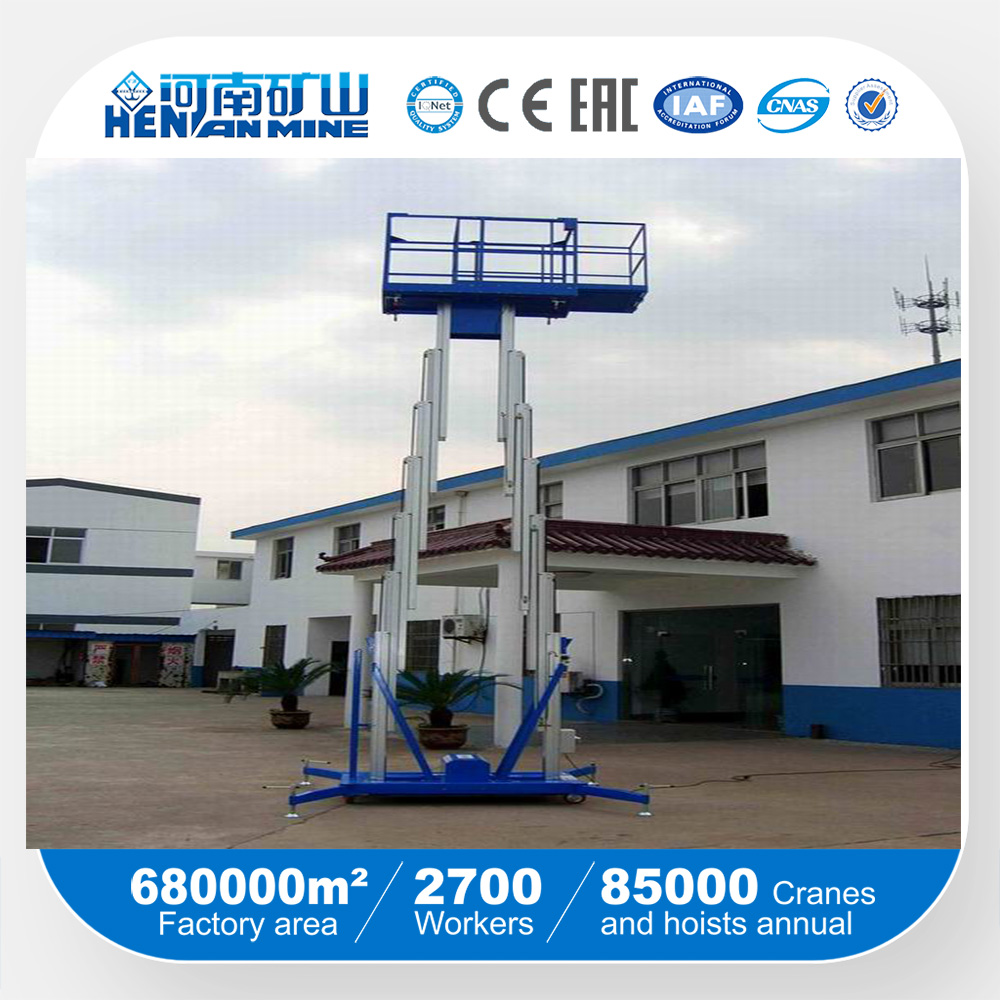 aluminum aerial working lift self-propelled movable lifting platform