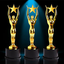 High-grade metal trophy pentagram trophy Oscar Trophy