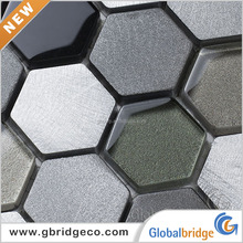 Low Price Colorful Classic Aluminium Alloy Hexagon Metal Mosaic Tile M8AC6254