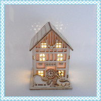 china supplier wooden laser christmas decorating, christmas decoration