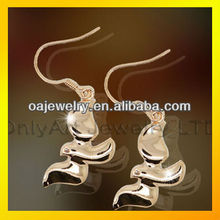 name brand fashion jewelry soar to great heights 925Plain Silver Animal Earring