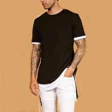 fashion street wear men's casual t-shirt short sleeve tees Hip Hop oversize t shirt